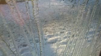 Ice on the window.