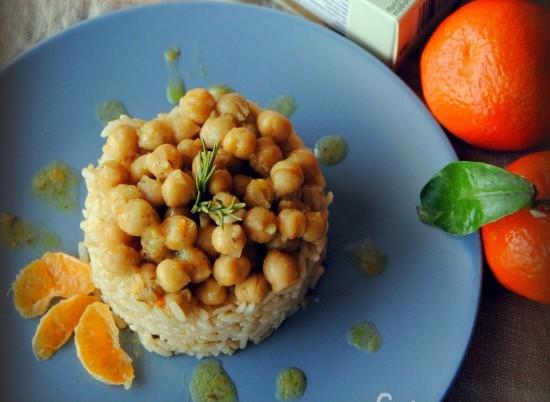 Καστανό ρύζι και ρεβίθια με άρωμα μανταρινιού!!!