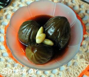 Σύκο ( αγριόσυκο) γλυκό του κουταλιού με πετιμέζι αλά Sofeto!