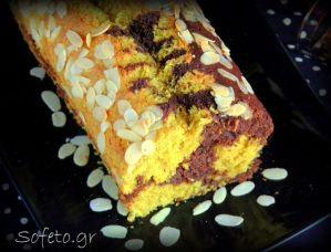 Κέικ ινδοκάρυδο και σοκολάτα, με αλεύρι ζέας , χωρίς ζάχαρη , γάλα και βούτυρο.