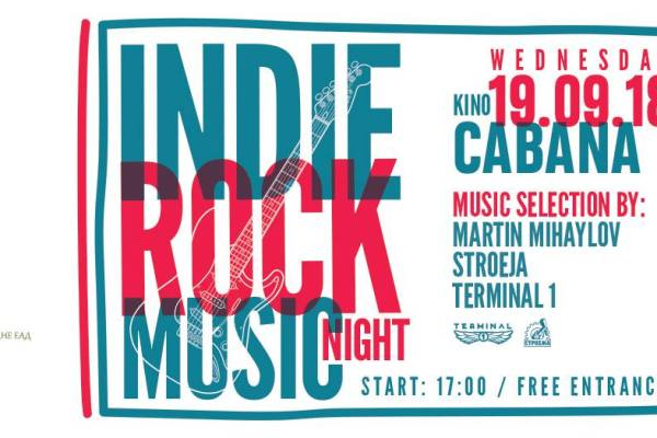 Indie Rock Music Night | Kino Cabana | September 19