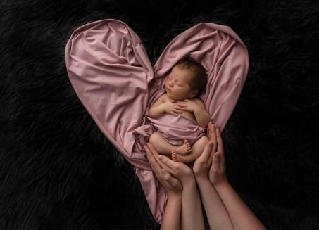 baby lyserødt tæppe