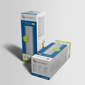 Diseño de empaque para bombillas Led Bohem Projects