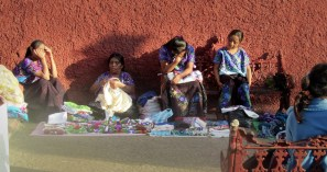 Woman selling handcrafts