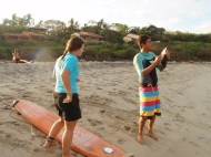 With David Salinas, the main surf instructor :)