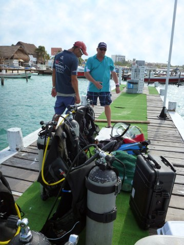 Our dive equipment, waiting for the boat.