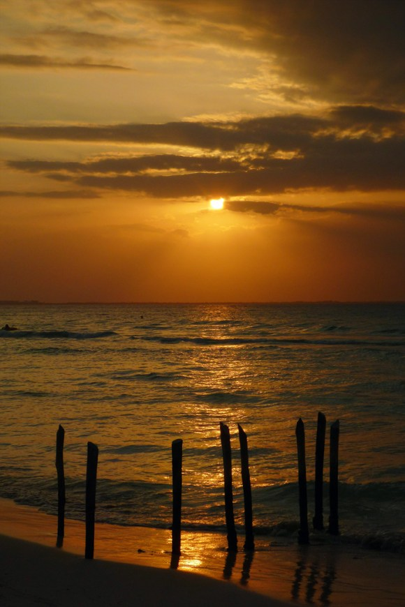 Lovely sunset in Isla mujeres