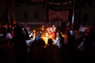 Night music therapy concert at the temple