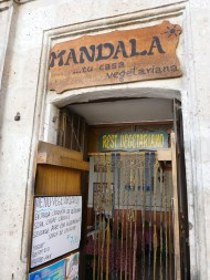 Mandala vegetarian Restaurant in Arequipa, street Jerusalem 207.