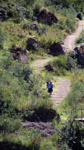 The people that lives in the villages in these valleys walk through this path every day to go to the market in Pisac to sell their things