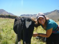 With my favorite cow :)