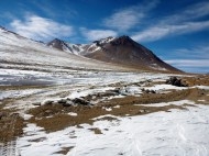 Snowy beautiful mountains
