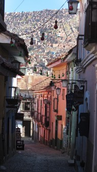 Lovely street in La paz