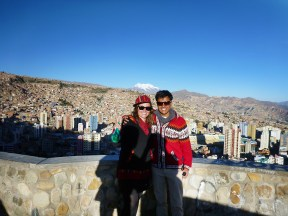 Me and Ad in one of the viewpoints over La Paz