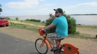 Biking with Rafa