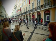Street dance in the main street of Rua Augusta