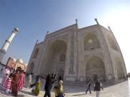 the backside of Taj Mahal