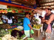 The market place :) Duilio is by the way quite tall here! Haha