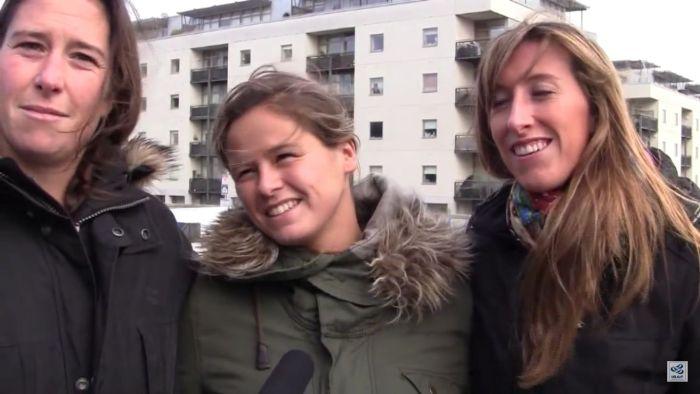 Sofía Toro, Táma Echegoyen y Angela Pumariega
