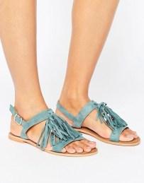 Asos blue tassel sandal