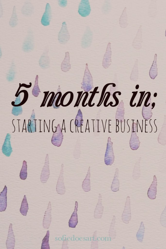5 months of working on starting a creative business and the results! Everything from blogging to social media and income.