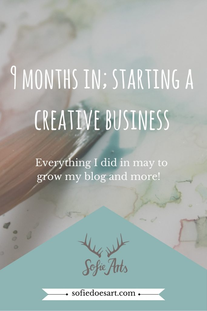 Everything I did, goals and more in the last month. What does 9 months of creative business look like without any prior knowledge?