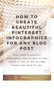 Creating beautiful info-graphic for any blog post. Make Pinterest work for you!