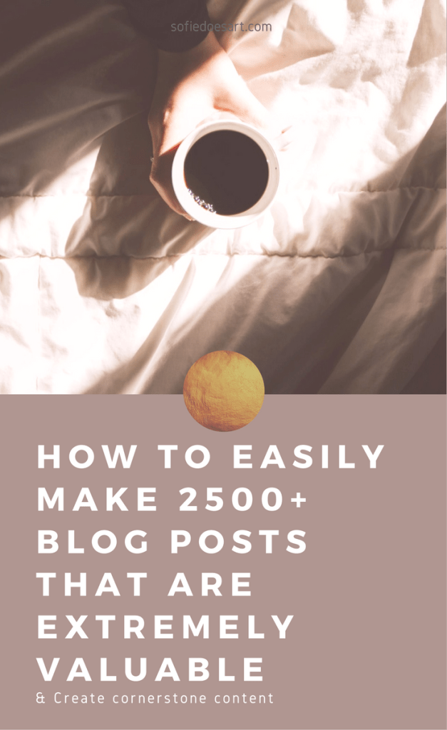 The easy way to write a long blog post that will drive more traffic to your blog and provide real value to your readers.