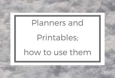 planners and printables and how to use them