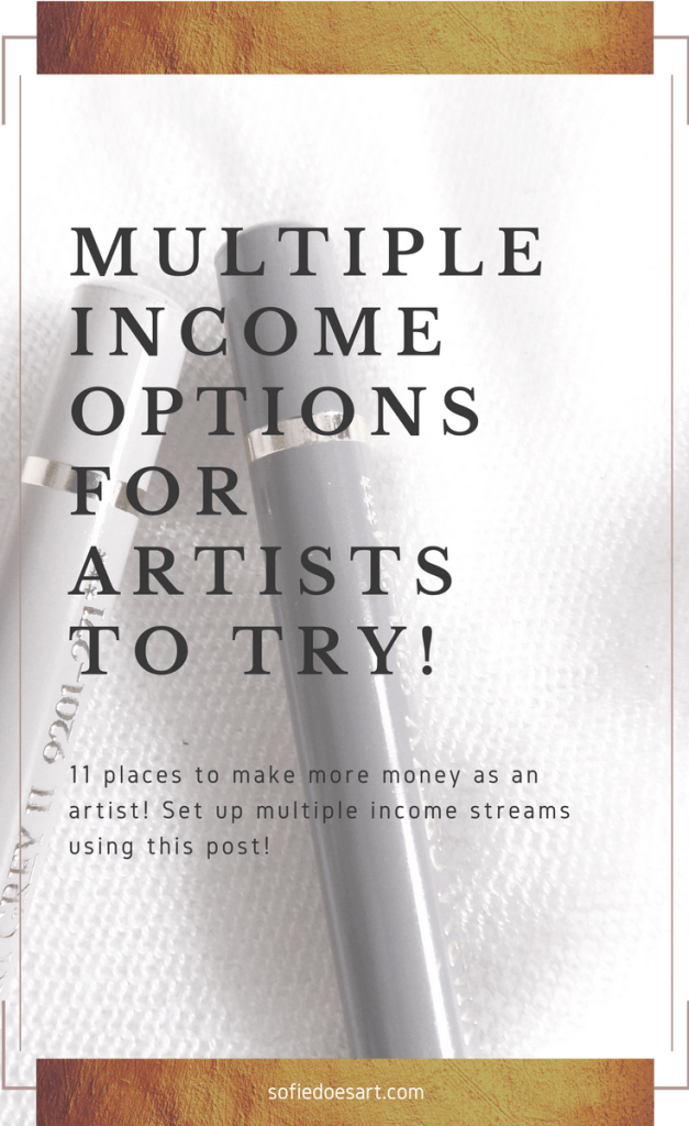 11 ideas to create multiple income streams as an artist. Change your creative business and get that regular income by building multiple income streams as an artist!