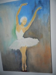 BALLERINA oil on canvas 14x24