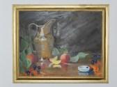 STILL LIFE oil on canvas 14x24