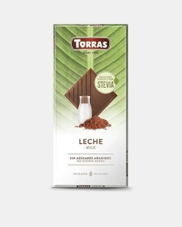 Stevia Schokolade 100g – Vollmilchschokolade – Torras