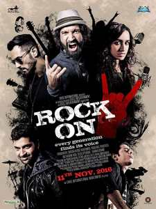 """Poster for the movie """"Rock On 2"""""""
