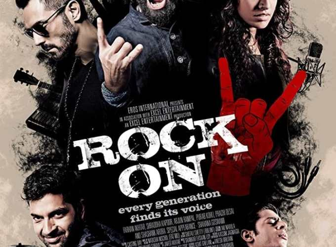 "Poster for the movie ""Rock On 2"""