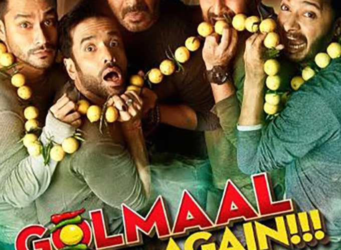 "Poster for the movie ""Golmaal Again"""