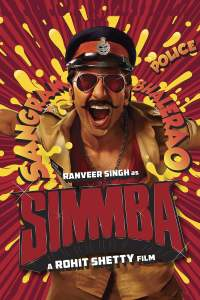 """Poster for the movie """"Simmba"""""""