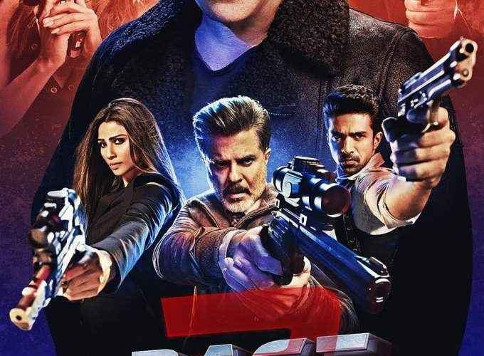 "Poster for the movie ""Race 3"""