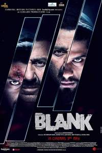 """Poster for the movie """"Blank"""""""