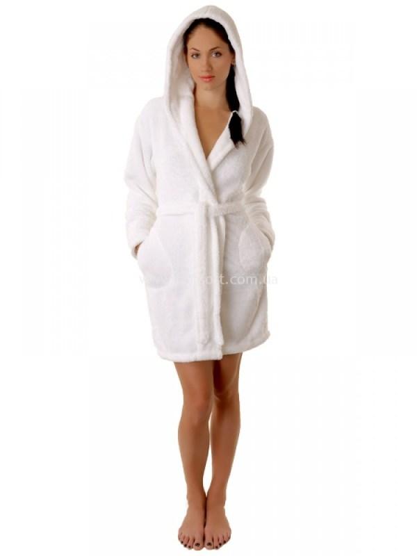 Махровый халат Sofi Soft 00814-9 белый