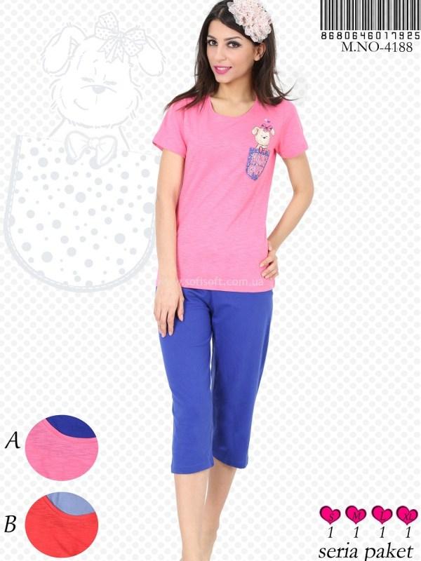 Пижама женская Капри 8680646017925
