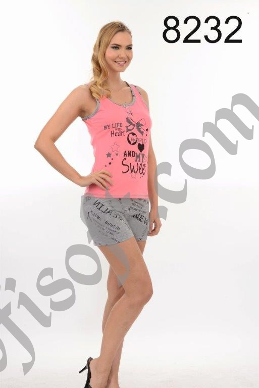 Пижама женская шорты Metin 8232