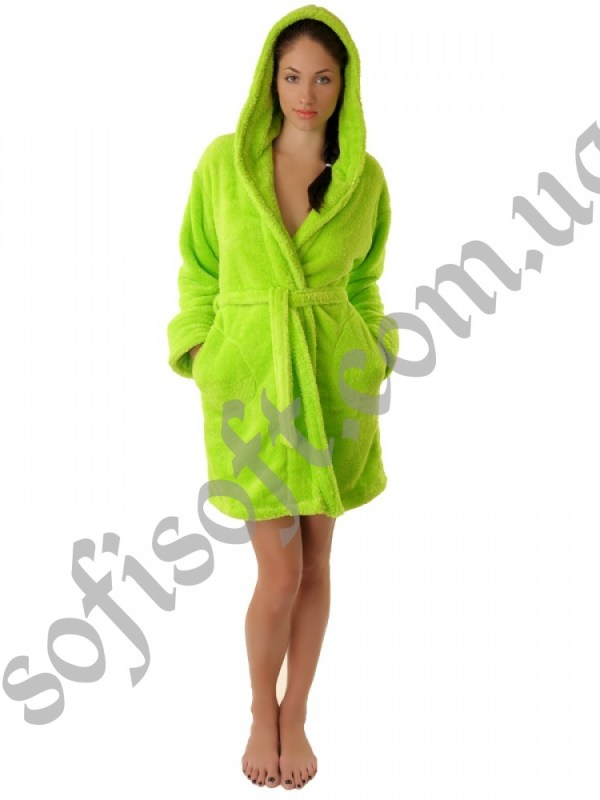 Махровый халат Sofi Soft 00814-7 салат
