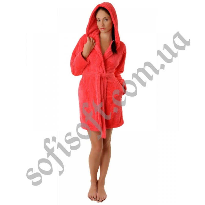 Махровый халат Sofi Soft 00814-2 коралл