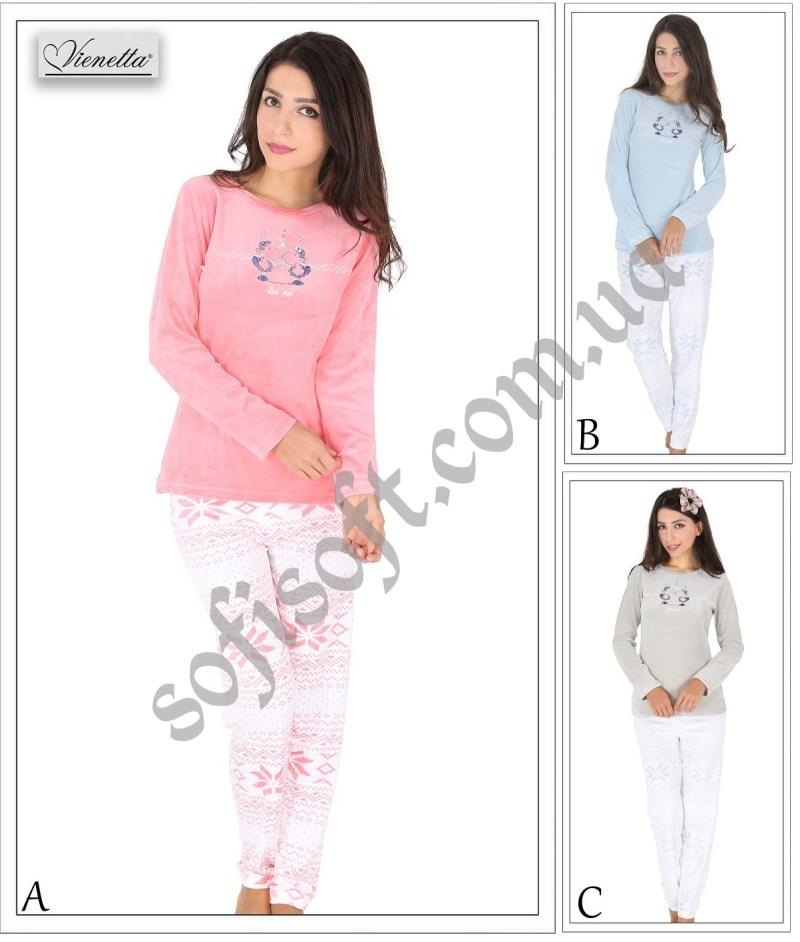 Пижама женская Велюр 5040305115