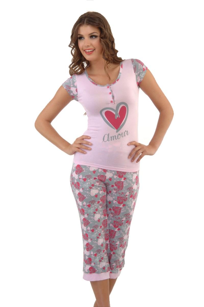 Пижама женская капри Metin 4378