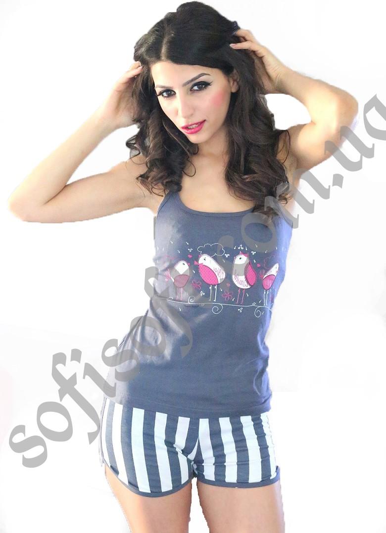 Пижама женская шорты 4040054129