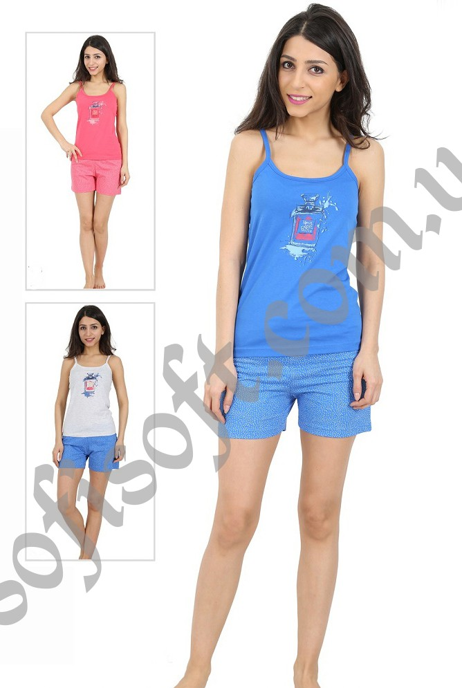 Пижама женская шорты 4081244001