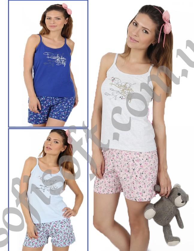Пижама женская шорты 4091714001