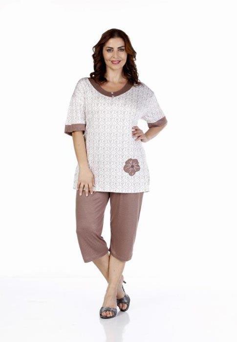 Пижама женская капри Metin 9199